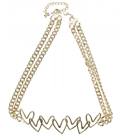 Elisabetta Franchi  Chain belt with hearts CT34D92E1 Oro light