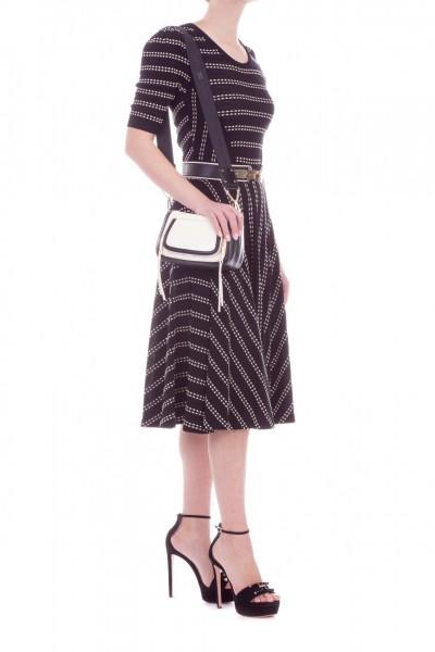 Elisabetta Franchi  Knit midi dress AM27L92E2 Nero/Burro