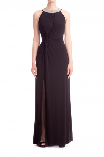 Michael Kors  ELEGANT LONG DRESS WITH EMBROIDERED COLLAR MS88VGH7AW