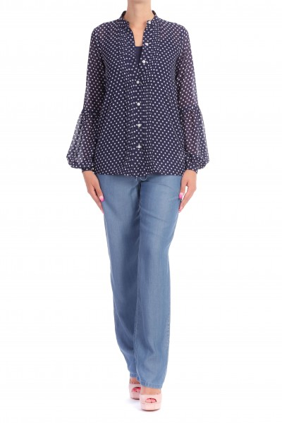 Michael Kors  POLKA-DOTS SHIRT WITH LOOSE SLEEVES MS84LEC8MP