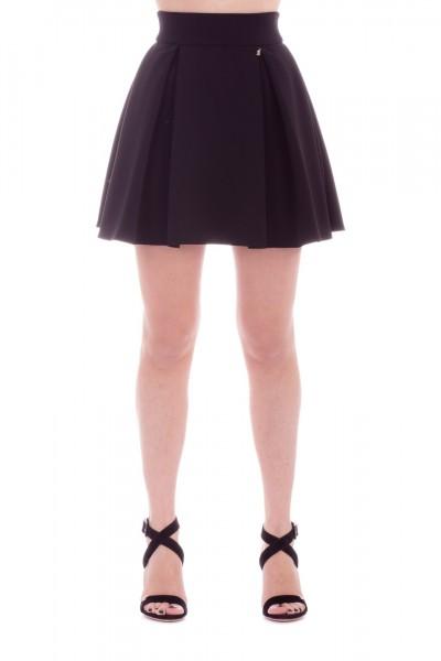 Elisabetta Franchi  Miniskirt with pleats GO18992E2 Nero