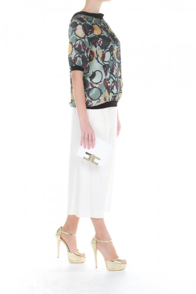 Manila Grace  Top with coloured pattern SS3889
