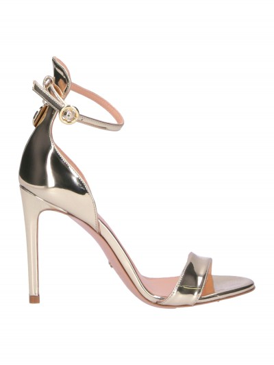 Elisabetta Franchi  Laminated Sandals SA27B98E2 Oro light