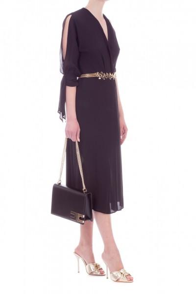 Elisabetta Franchi  One-sleeve one shoulder dress AB81492E2 Nero