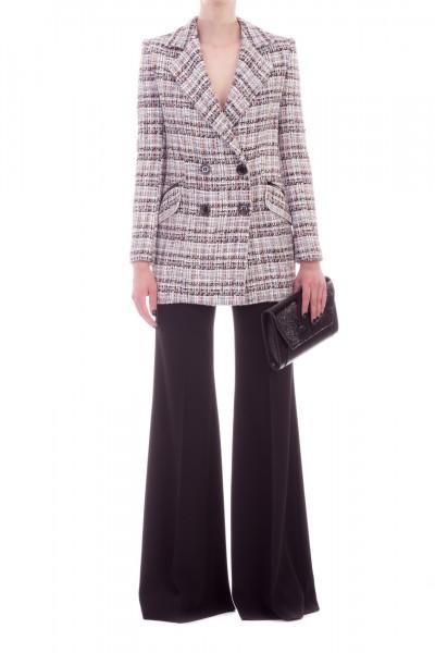 Elisabetta Franchi  High-waisted palazzo trousers PA25391E2 Nero