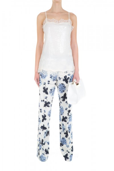 Twin-Set  Palazzo trousers with floral pattern PS6244